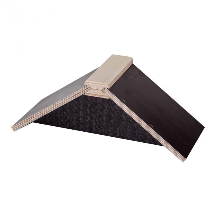 Sitzbrettchen aus Holz schwarz