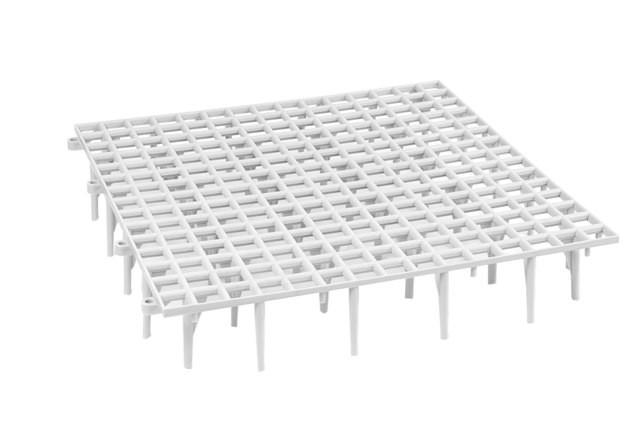 Fußbodenroste aus Kunststoff 49cm x 49cm x 9cm