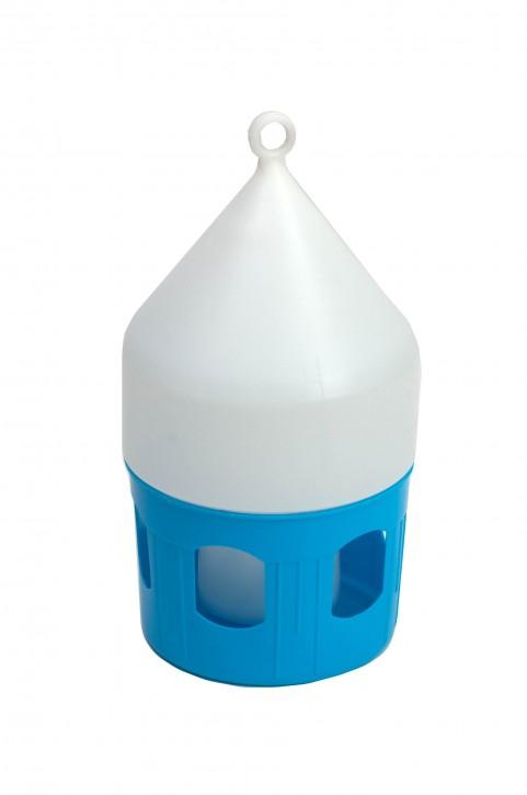 Tränke aus Kunststoff blau/weiss 3,5 Liter mit Tragering