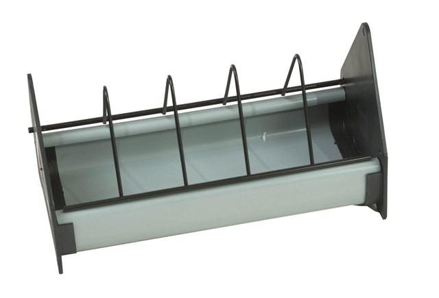 Taubenfuttertrog Kunststoff 25 cm grau/schwarz