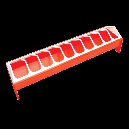 Futtertrog orange 50cm für Geflügel