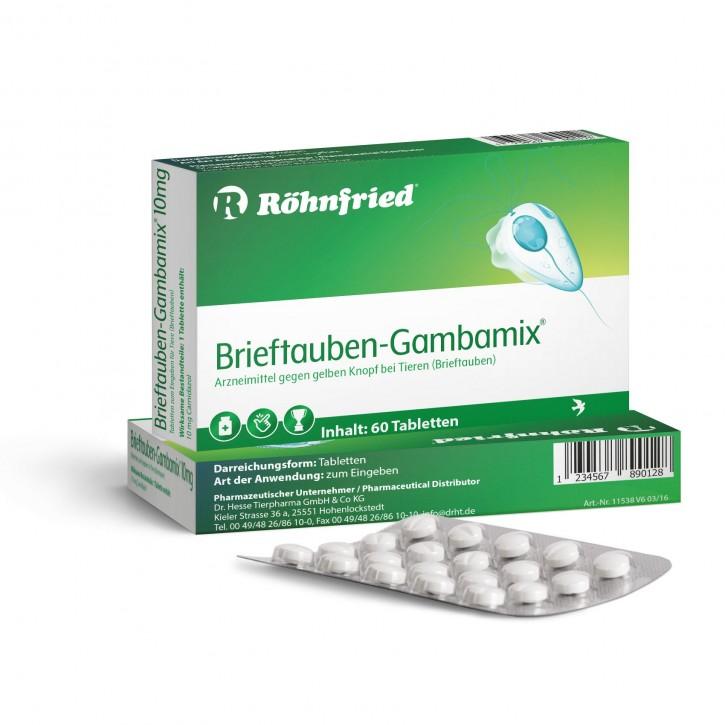 Röhnfried Brieftauben Gambamix mit Carnidazol 60Tabl.