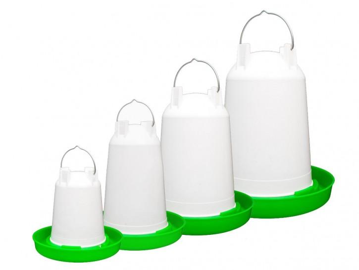 Geflügeltränke 1,5 Liter weiß/ grün