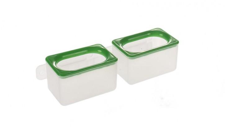 Zellennapf doppelt aus Kunststoff