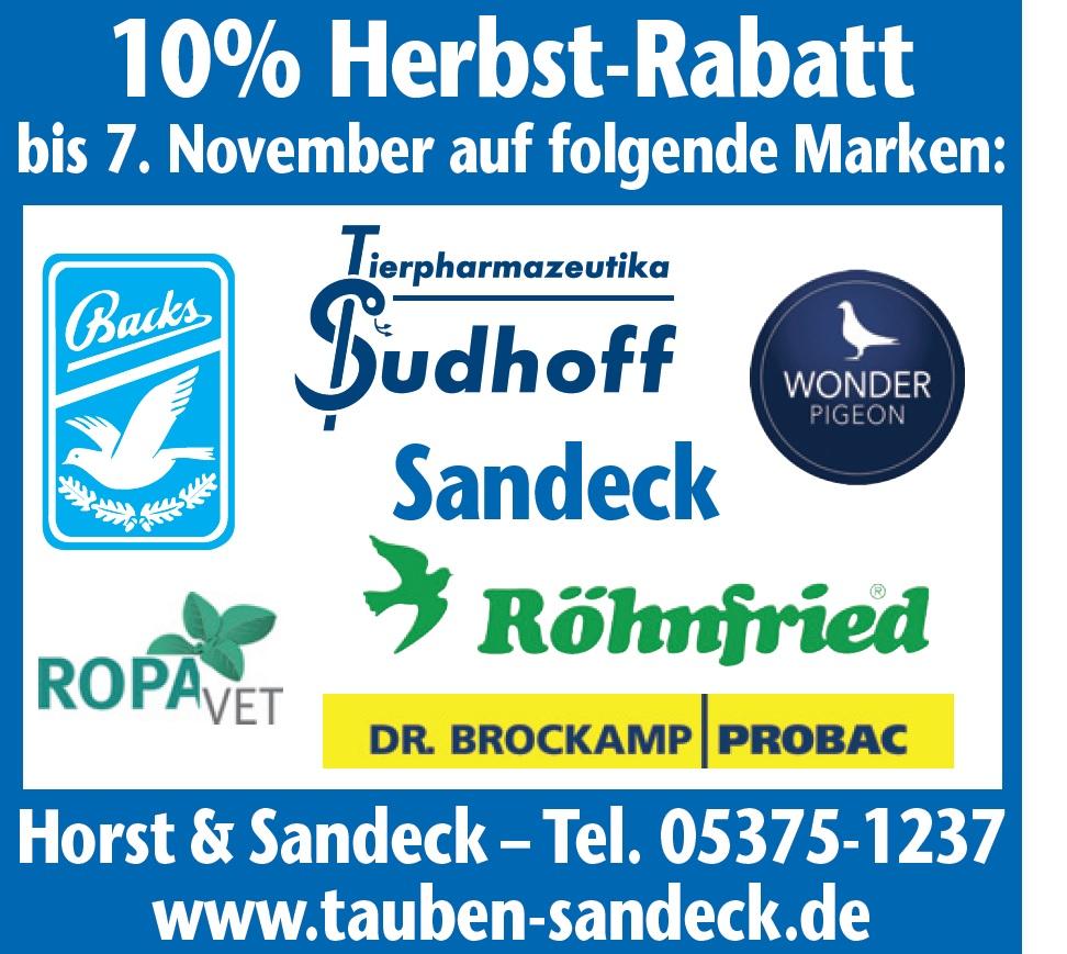 Tauben-Sandeck