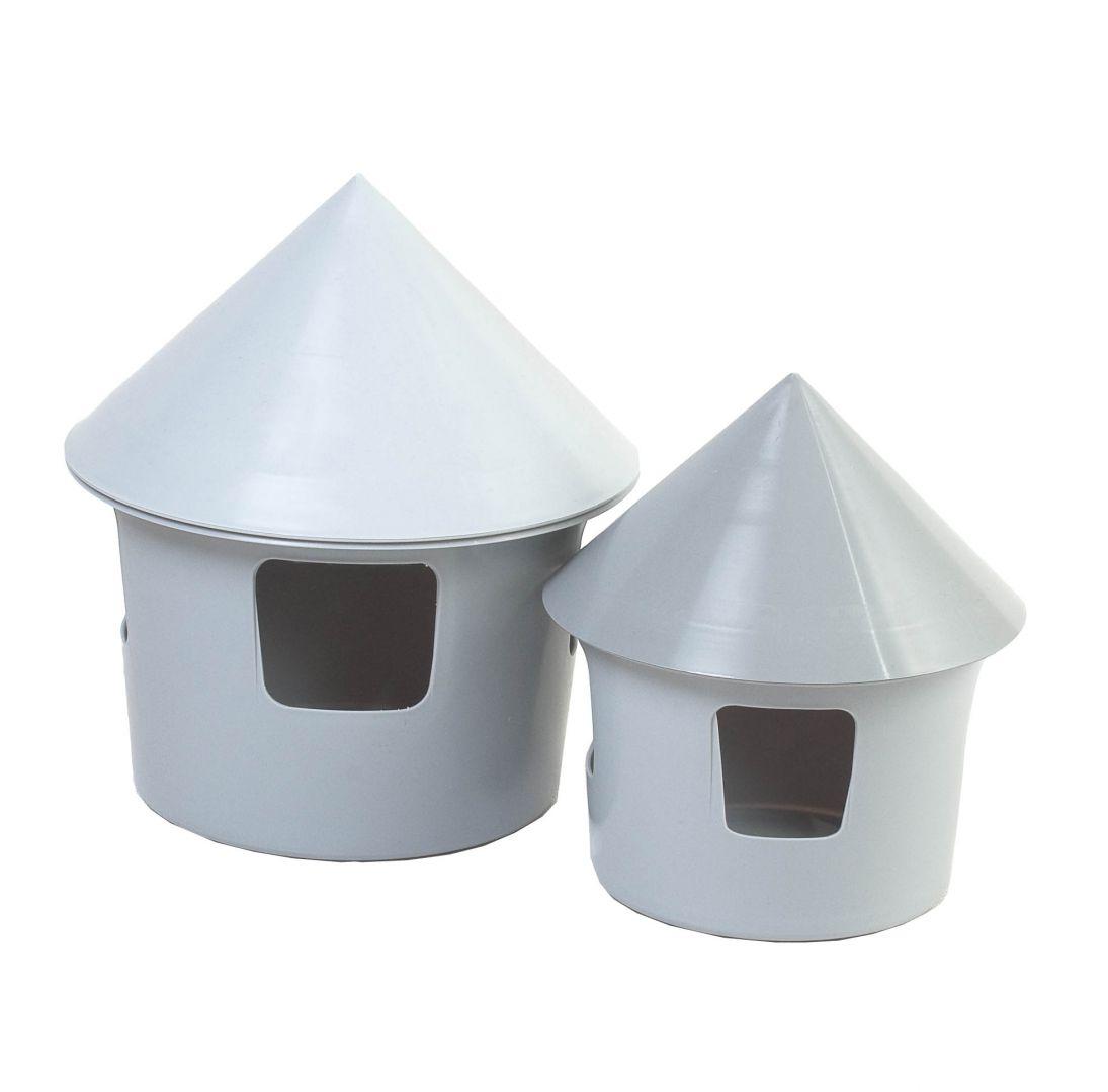 Tränke aus Kunststoff grau ca. 1 Liter belgisch-