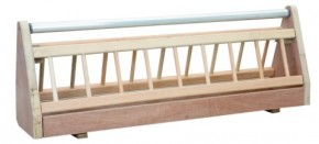 Taubenfuttertrog aus Holz 80cm mit Rolle
