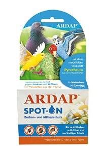 Quiko Ardap Spot On Zecken-und Flohschutz für Tauben und Vögel