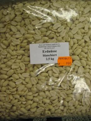 Erdnüsse blanchiert 2,5 kg