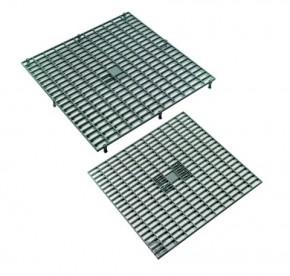 Roste aus Kunststoff grau mit Füßen 38 x 38 x 2,5cm