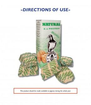 Natural Pickstein 6 Stück im Karton (Taubenkuchen)