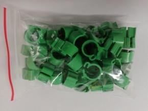 Clipsringe grün 50 Stück für Tauben