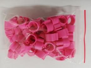Clipsringe pink 50 Stück für Tauben