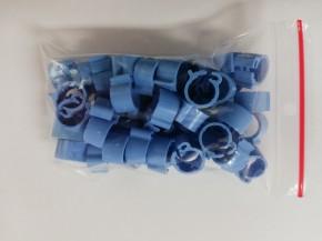 Clipsringe blau 50 Stück für Tauben