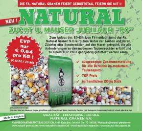 Natural Jubiläum Zucht & Mauser 50x20kg frei Haus