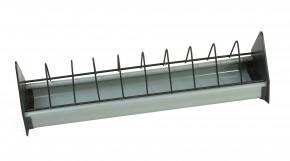 Taubenfuttertrog Kunststoff 100cm grau/schwarz